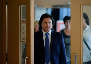 Suspended senator Patrick Brazeau arrives to court in Gatineau, Que., on Tuesday, May 19, 2015. (Sean Kilpatrick / THE CANADIAN PRESS)