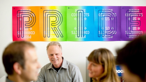 Pride banner at Facebook
