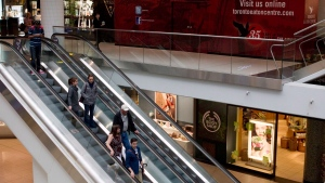 Toronto's Eaton Centre mall on Monday June 4, 2012. (Chris Young/THE CANADIAN PRESS)