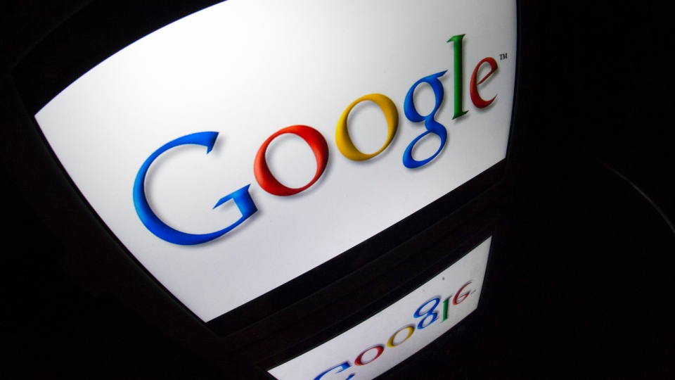 "The ""Google"" logo is pictured. (AFP PHOTO / LIONEL BONAVENTURE)"