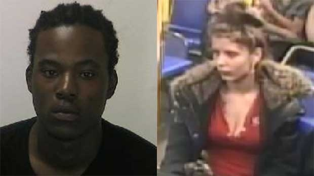 Twenty-year-old Isak Adams, aka Strapz, and 18-year-old Elvira Krstic, aka Maya, are seen in this composite of photos provided by the London Police Service.