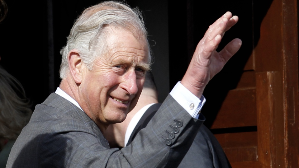 Prince Charles waves to members of the public at Mullaghmore, Republic of Ireland, Wednesday, May 20, 2015. (AP / Peter Morrison)