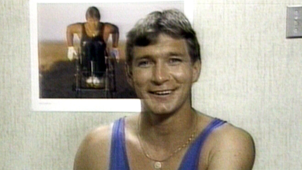 Rick Hansen in an interview with CTV shortly after finishing his Man in Motion tour back in 1987.