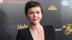Maggie Gyllenhaal arrives at the 40th Anniversary Gracies Awards at the Beverly Hilton Hotel in Beverly Hills, Calif. on Tuesday, May 19, 2015. (Chris Pizzello / Invision)