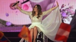 Monika Kuszynska representing Poland performs the song 'In The Name Of Love' during the second semifinal of the Eurovision Song Contest in Austria's capital Vienna, Thursday, May 21, 2015. (AP /Kerstin Joensson)