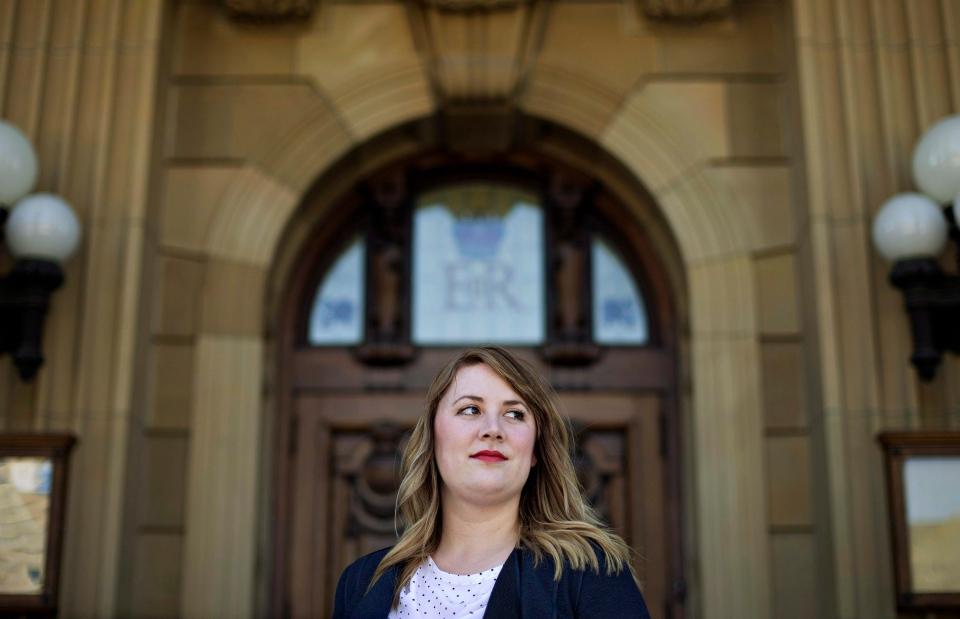 NDP MLA for Calgary-Bow Deborah Drever pictured in Edmonton, on Thursday, May 21, 2015. (Jason Franson / THE CANADIAN PRESS)