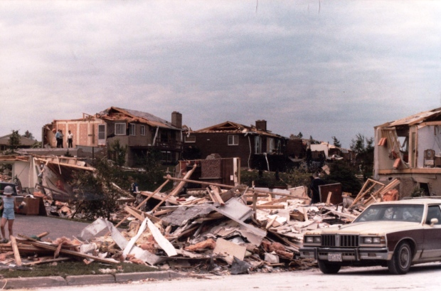Pictures from the Barrie tornado in 1985 (Courtesy: Frank Callaghan)