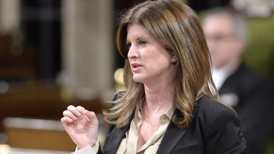 Health Minister Rona Ambrose rises during question period in the House of Commons on Parliament Hill in Ottawa, Thursday, April 30, 2015. (Adrian Wyld / THE CANADIAN PRESS)