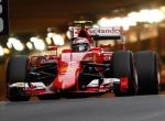 Ferrari driver Kimi Raikkonen of Finland, steers his car during the third free practice session at the Monaco racetrack, in Monaco, Saturday, May 23 2015. (AP / Claude Paris)