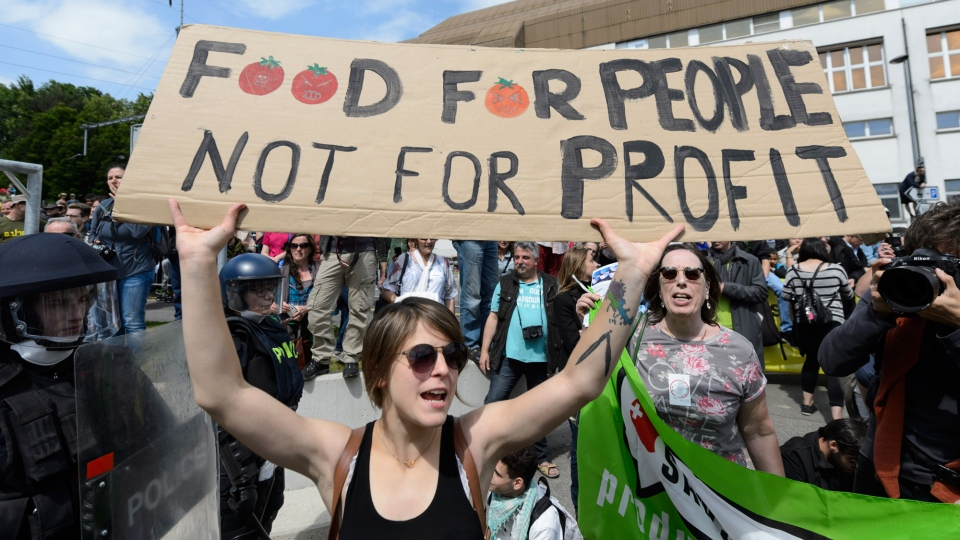 March Against Monsanto Anti Gmo Protesters Rally In