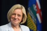 Alberta premier-designate Rachel Notley speaks to the media in Edmonton on Tuesday, May 12, 2015. (Amber Bracken/THE CANADIAN PRESS)