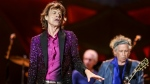 Mick Jagger, from left, Charlie Watts and Keith Richards perform at The Rolling Stones Zip Code Tour opening night at Petco Park in San Diego on May 24, 2015. (AP / Invision, Rich Fury)