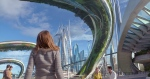 "This photo released by Disney shows, Britt Robertson as Casey, in a scene from Disney's ""Tomorrowland."" (Film Frame/Disney via AP)"