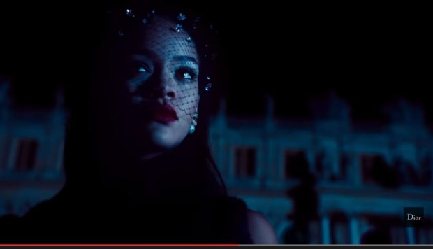 f60e57115031 Dior releases long version of Rihanna ad. An image from the Secret Garden  IV