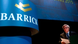 Barrick Gold Corporation Chairman John Thornton in Toronto, on April 28, 2015. (THE CANADIAN PRESS / Nathan Denette)