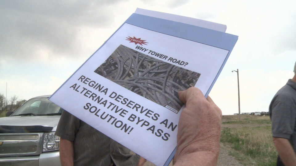 Opponents say the proposed route for the Regina bypass is too close to the city.