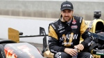 James Hinchcliffe at Indianapolis Motor Speedway, on May 16, 2015. (AP / AJ Mast)
