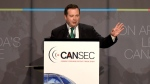 Minister of National Defence Jason Kenney at the CANSEC trade show in Ottawa on May 27, 2015. (THE CANADIAN PRESS / Justin Tang)