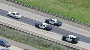 LIVE NOW: Aerial view of police chase in Fort Worth, Texas
