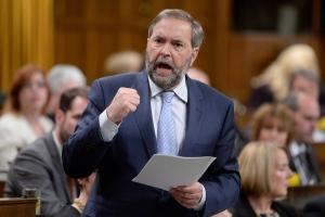 Mulcair, Trudeau spar over NDP's satellite offices
