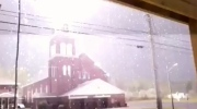 Caught on cam: Church struck by lightning