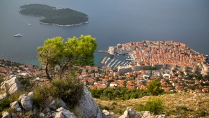 Dubrovnik old town is seen from the top of a hill on Oct. 4, 2014. (AP / Darko Bandic)