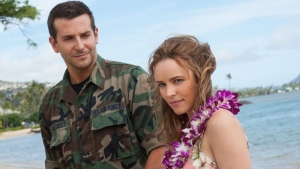 Bradley Cooper, left, and Rachel McAdams in a scene from Columbia Pictures' 'Aloha.' (Neal Preston / Sony Pictures Entertainment)