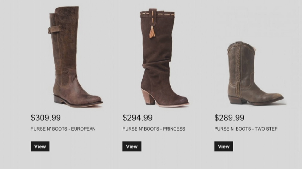 Elizabeth Anne Shoes website displays Purse n' Boots. (CTV)