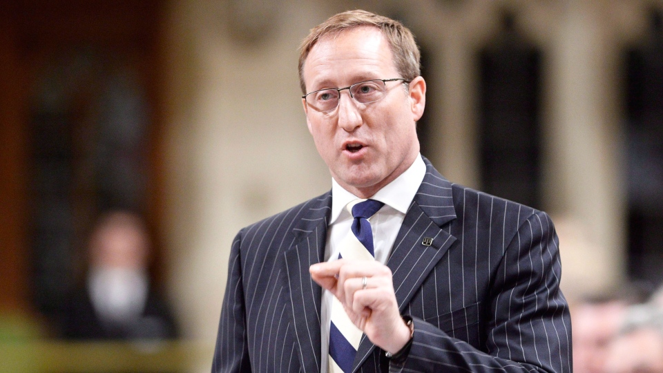 Justice Minister Peter Mackay rises during Question Period in the House of Commons on Parliament Hill in Ottawa, Thursday, April 30, 2015. (Adrian Wyld / THE CANADIAN PRESS)