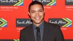 "Trevor Noah, South African comedian and new host of ""The Daily Show"" on Comedy Central, poses at South African Tourism's sixth annual Ubuntu Awards, at the American Museum of Natural History in New York on April 13, 2015. (Jason DeCrow / South African Tourism)"