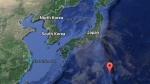 In this Google map, the red point notes Japan's Ogasawara islands.