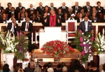 Rev. Herron Wilson delivers the eulogy during the funeral for blues legend B.B. King at Bell Grove M.B. Church in Indianola, Miss., on Saturday, May 30, 2015. (AP / Rogelio V. Solis)