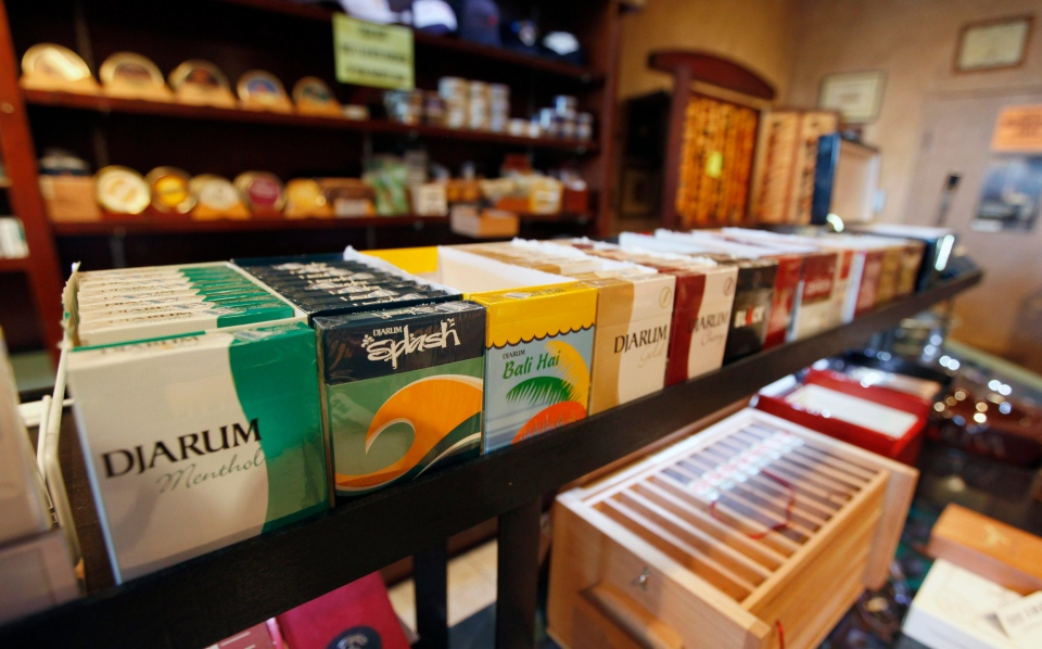Flavored cigarettes are on display in this 2009 file photo. (AP / Steve Helber)