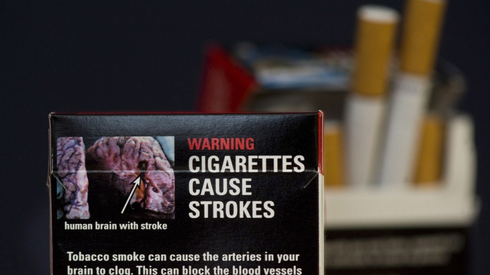 A pack of cigarettes are shown in Montreal, Monday, March 12, 2012. (Graham Hughes / THE CANADIAN PRESS)