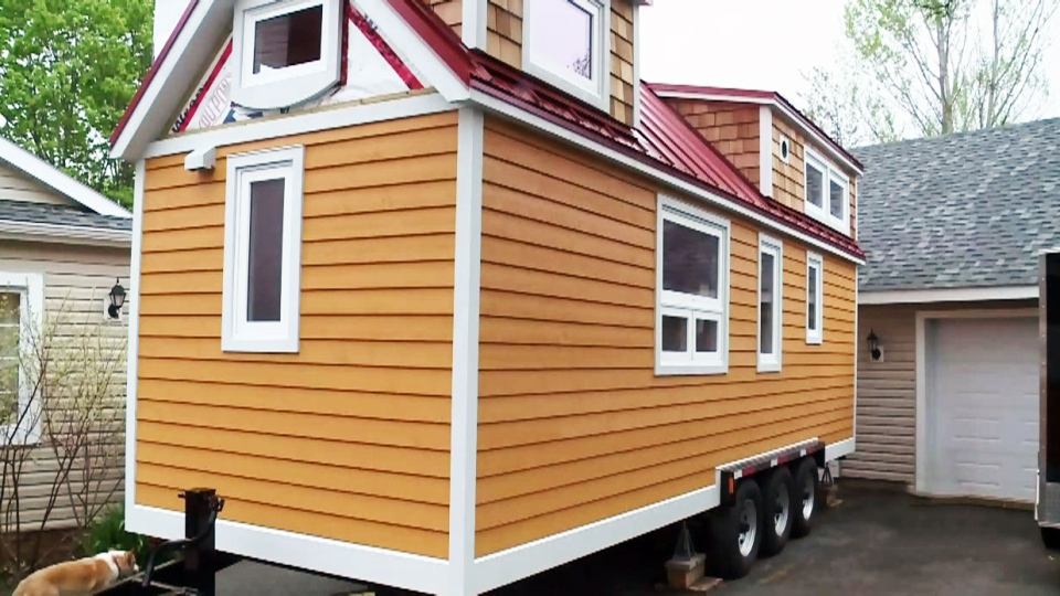 It's roughly the size of a large walk-in closet, but a Nova Scotia couple say their tiny dream home is close to completion after constructing a 175-square-foot, mobile and eco-friendly home.