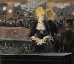 This image released by Sotheby's auction house in London shows Edouard Manet's Le Bar aux Folies-Bergere. (Sotheby's via AP)