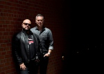 Barenaked Ladies band members Tyler Stewart, left, and Ed Robertson pose for a photograph for their new album called 'Silverball' in Toronto on Tuesday, May 26, 2015. (THE CANADIAN PRESS/Nathan Denette)