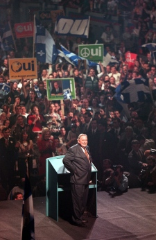 Jacques Parizeau Yes rally