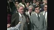 Jacques Parizeau is flanked by Lucien Bouchard on Oct. 2, 1995 while campaigning for an independent Quebec.