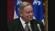 Jacques Parizeau announces his resignation as Premier of Quebec and leader of the Parti Quebecois on Oct. 31, 1995