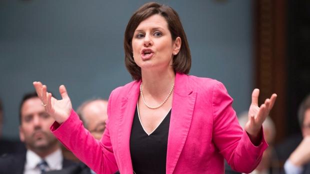 Quebec Justice Minister Stephanie Vallee speaks du