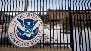 In this Feb. 25, 2015 file photo, the Homeland Security Department headquarters in northwest Washington on Feb. 24, 2015. (Manuel Balce Ceneta / AP Photo)