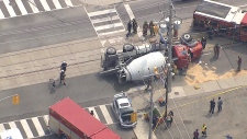 LIVE1: Cement truck crash in Toronto
