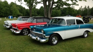 Vintage cars are being prepared for the 2015 Fleetwood Country Cruize-In in London, Ont. on Friday, June 5, 2015. (Nick Paparella / CTV London)