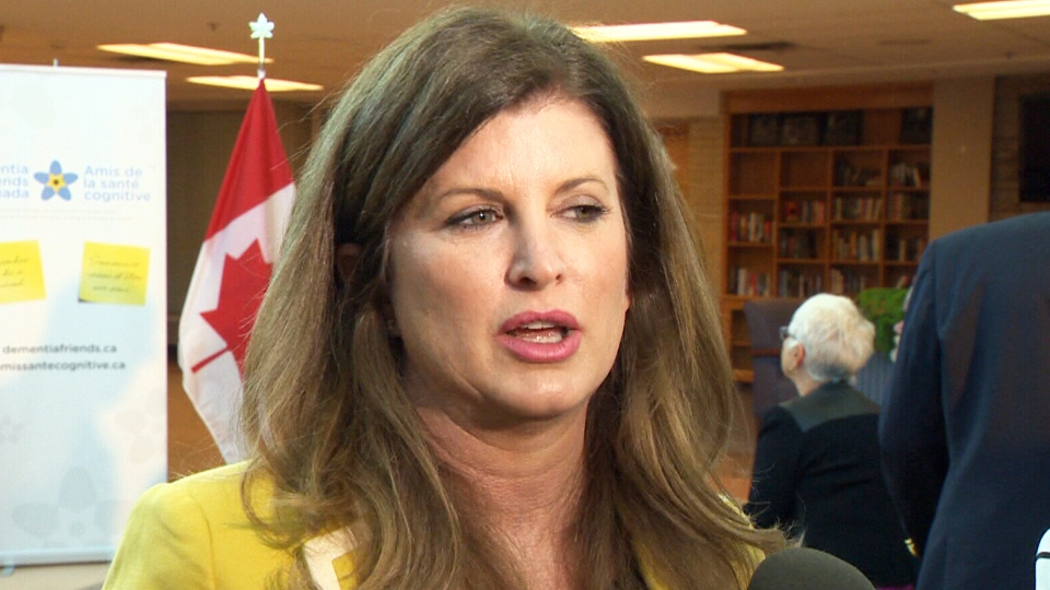 Rona Ambrose speaks in Edmonton on June 5, 2015.