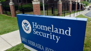 The Homeland Security Department headquarters in Washington is seen, on Friday, June 5, 2015. (AP Photo/Susan Walsh)