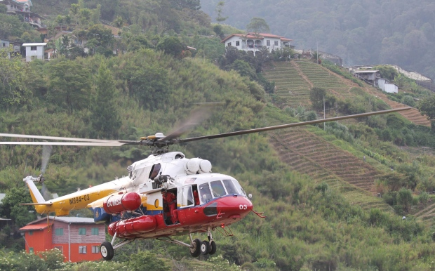Helicopter searches for climbers in Malaysia