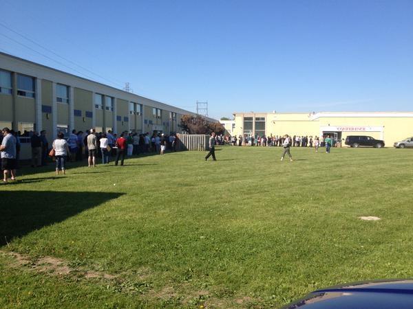 Hundreds in line for Formet job fair (Sean Irvine)