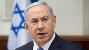 Israeli Prime Minister Benjamin Netanyahu attends the weekly cabinet meeting in his Jerusalem office, Sunday, June 7, 2015. (AP / Sebastian Scheiner, Pool)