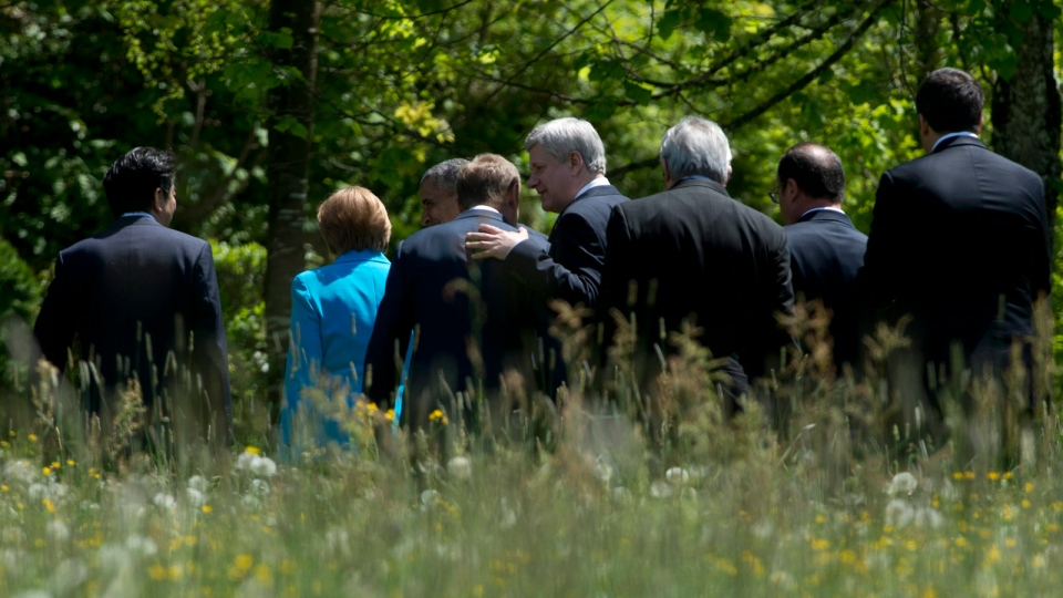 Harper with G7 leaders